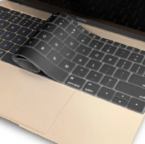 Keyboard Silicone Cover Protector Skin for Macbook 12 Inch / New Macbook 2015 - Black