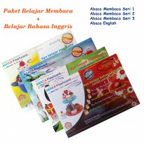 Paket Abaca Flash Card Seri Membaca dan English