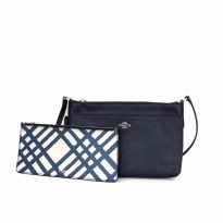 Coach East/West Crossbody With Pop-Up Pouch - Navy
