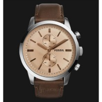Fossil FS5156 Townsman Chronograph Beige Dial Brown Leather Strap Watch