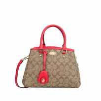 Coach Margot Carryall in Signature - Red