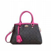 Coach Margot Carryall in Signature - Pink