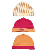 Yoga Sprout 3 Caps / Orange Elephant-Topi bayi