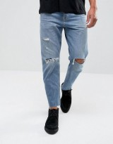 AllSaints Danvers Sid Jeans In Straight Fit With Rips