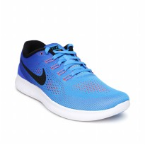 Sepatu Olahraga Lari Senam Fitness Nike Free Run Women's Shoes- Blue Ocean 831509404