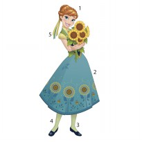 Frozen Fever Anna Peel And Stick Giant Wall Decals