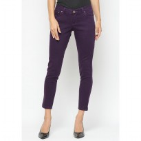 Mobile Power Ladies Basic Skinny Long Pants - Purple Y2219S