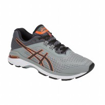 Sepatu Olahraga Lari Gym Fitness Asics Gt-2000 6 Men's Running Shoes- Grey Black T805N020