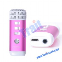 Pocket Mini Combination Karaoke Player ( Hot Pink )