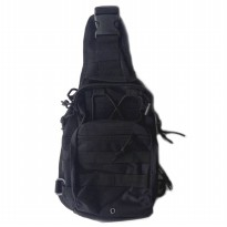 Tas Selempang Outdoor Military Tactical Duffel Backpack - Black