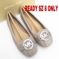 michael kors fulton mink flat shoes size 6, 7, 7.5,8