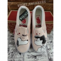 VANS SLIP ON X PEANUT SMACK PERL SNOOPY.