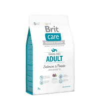 Brit Care Grain-Free - Adult Salmon & Potato 3kg. SuperPremium, Hypoallergenic Formula for Adult Dog