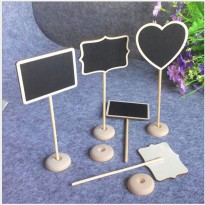 Papan Tulis Hitam Hiasan Dekorasi Meja Home Decor Mini Blackboard TZ2