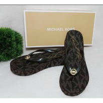 Michael Kors flip flop wedges