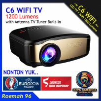 Projector Cheerlux C6 WIFI TV Wireless | Proyektor Infocus Nobar Bola