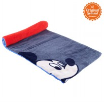 Mickey Anniversary 90th Towel Red Grey