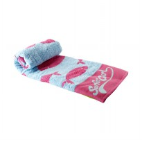 Surfer Girl Jacquard Bath Towel Pink