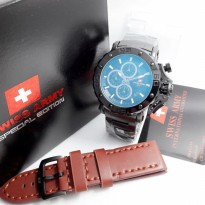 New Available Jam Tangan Pria Swiss Army Stainless Full Black #1