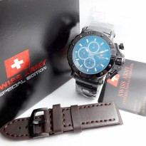 New Available Jam Tangan Pria Swiss Army Stainless Full Black #3
