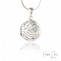 HanaChic Summer Time Necklace Blue Color