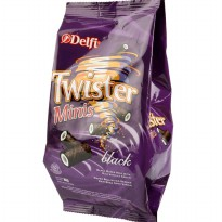 Delfi Wafer Stick Twister Minis Black Vanila 80 gram