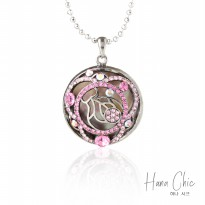 HanaChic Sterling Necklace Pink Color