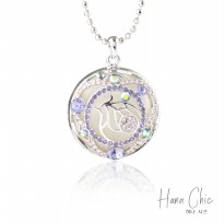 HanaChic Sterling Necklace Purple Color