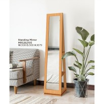 Offo Living - Meja Rias / Cermin Standing Mirror Beech