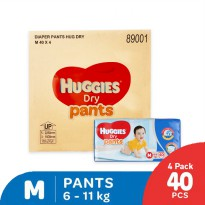 Huggies Dry Pants Popok Celana M40 - 4 Pack