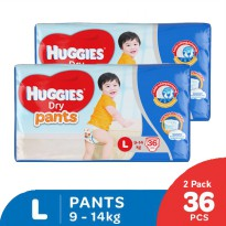 Huggies Dry Pants Popok Celana L36 - 2 Pack