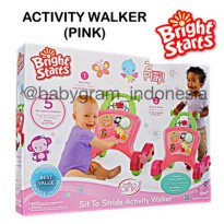 (High Quality) Bright Starts Sit to Stride Activity Walker, Pink