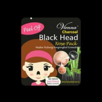 Vienna Charcoal Black Head Nose Pack Bpom