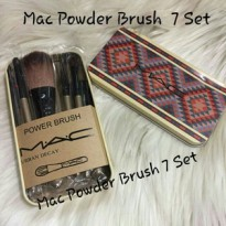 7 Set MAC Kuas Make Up Kaleng Batik