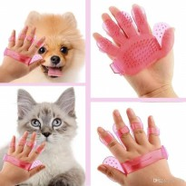 PET BRUSH GLOVE Sarung Tangan Grooming Pet (Anjing/Kucing) Karet