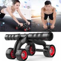 (Ready) Roller Fitness Power Wheel Alat Abs Perut Sixpack/Abdominal Wheel