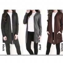 CARDIGAN SIMPLE BASIC MIDI CARDY KARDIGAN