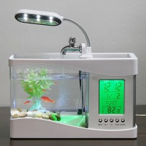 [Gold Product] Aquarium Mini USB  LCD Display Thermometer Desktop Akuarium Lampu Meja