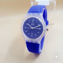 SWATCH RUBBER NAVY WHITE