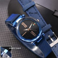Jam Tangan Wanita Gucci Pasir Magnet Blue + Leather Blue