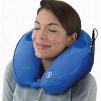 Bantal Leher Pijat Musik MP3 Travel Pillow Massage