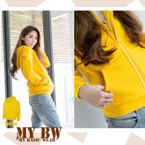 Hodie Jacket with Ziper plain colour Yelow