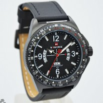 Jam Tangan Pria / Cowok Naviforce NF8490 Original Leather Black White
