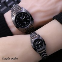 Jam Tangan Seiko Couple SK255 Rantai Full Black