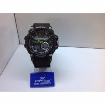 JAM TANGAN PRIA FORTUNER GG 1000 ORIGINAL ANTI AIR BLACK GREEN
