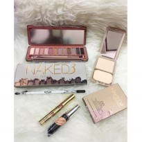 Paket Urban Decay [EYESHADOW+BEDAK+MASCARA+PENSIL ALIS+LIPCREAM]