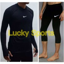 PROMO!!! Baselayer baju renang gym celana manset diving under armour