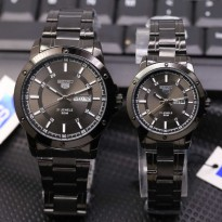Jam Tangan Seiko Couple SK955 Rantai Black Full