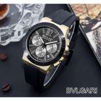 BVLGARI RUBBER CHRONO ACTIVE BLACK ROSEGOLD BLACK