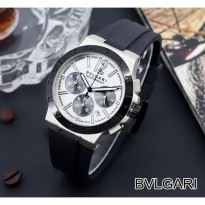 BVLGARI RUBBER CHRONO ACTIVE BLACK SILVER BLACK
